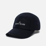 Мужская кепка Stone Island 5 Panel Reflective Logo Marine Blue фото- 1