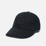 Мужская кепка Stone Island Compass Embroidery Front Black фото- 1