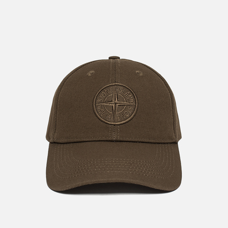 Мужская кепка Stone Island Compass Embroidery Front Military Green