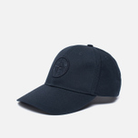 Мужская кепка Stone Island Compass Embroidery Front Navy Blue фото- 1