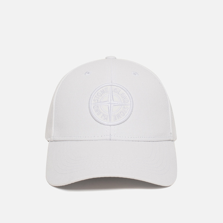 Мужская кепка Stone Island Compass Embroidery Front White