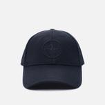 Мужская кепка Stone Island Wool Mix Compass Logo Embroidered Blue фото- 0