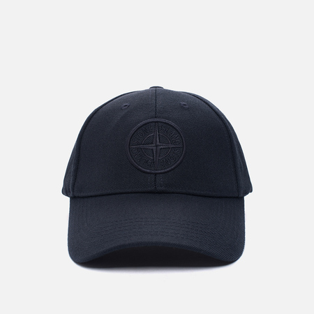 Мужская кепка Stone Island Wool Mix Compass Logo Embroidered Blue