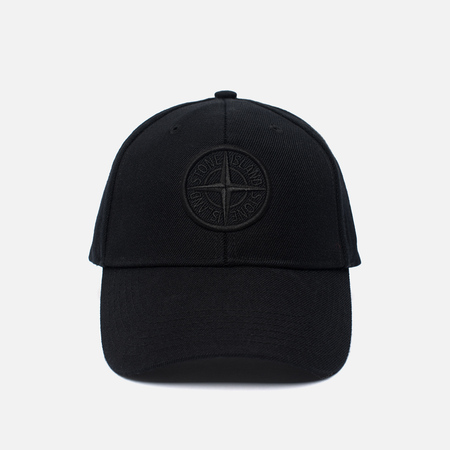 Кепка Stone Island Wool Mix Compass Logo Embroidered Black