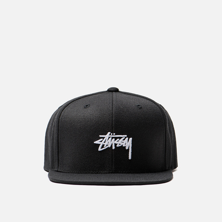 Кепка Stussy Stock 6 Panel Embroidered Logo Black