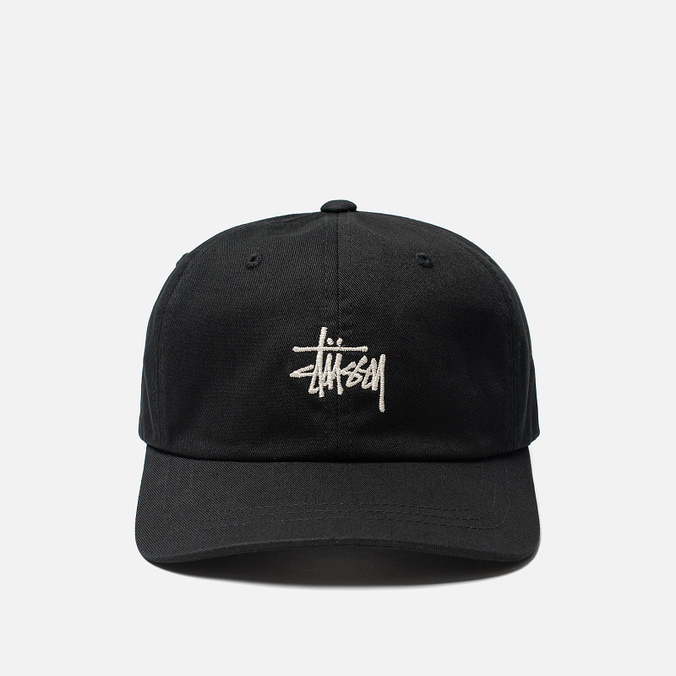 Кепка Stussy Stock Low Pro 6 Panel Embroidered Logo Black