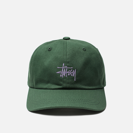 Мужская кепка Stussy Stock Low Pro 6 Panel Embroidered Logo Green