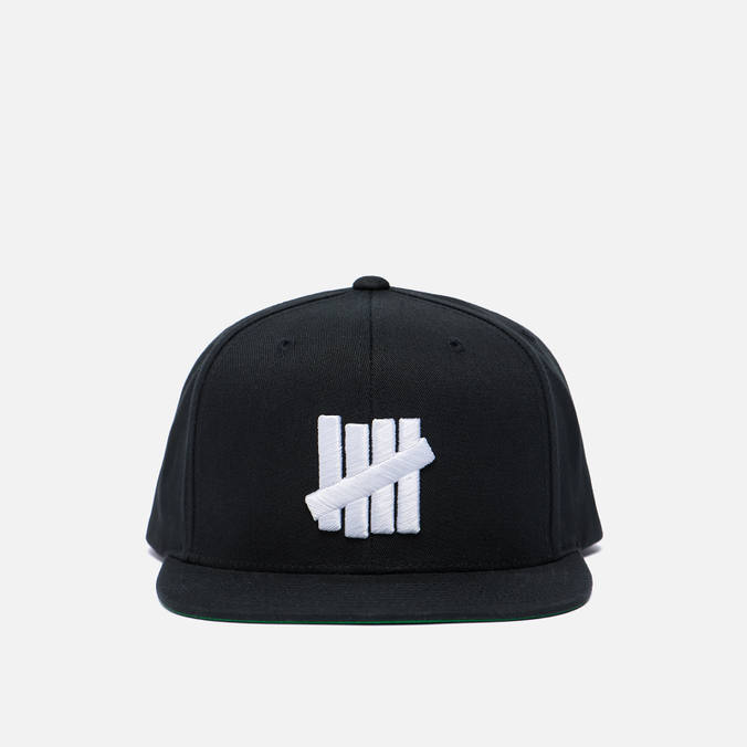 Мужская кепка Undefeated 5 Strike Snapback Black