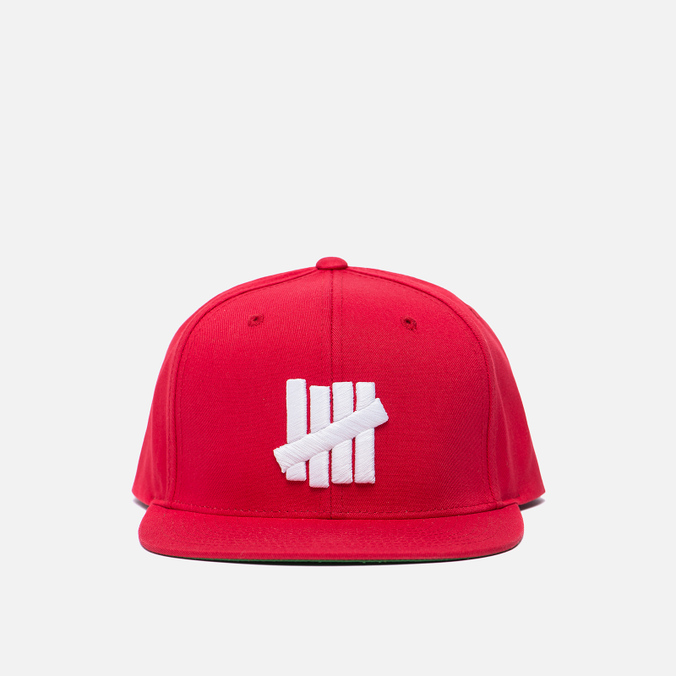 Мужская кепка Undefeated 5 Strike Snapback Red