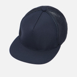 Мужская кепка Universal Works Trucker Tropical Wool Navy фото- 2