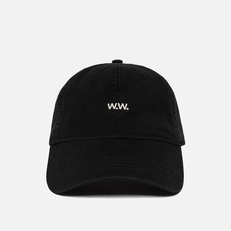 Мужская кепка Wood Wood Low Profile W.W. Embroidery Black