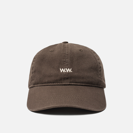 Мужская кепка Wood Wood Low Profile W.W. Embroidery Brown