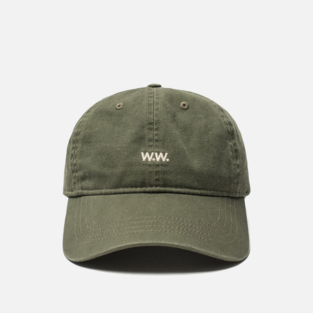 Мужская кепка Wood Wood Low Profile W.W. Embroidery Dark Green