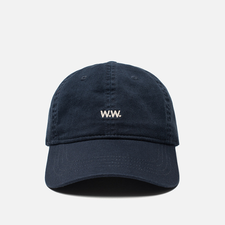 Мужская кепка Wood Wood Low Profile W.W. Embroidery Navy