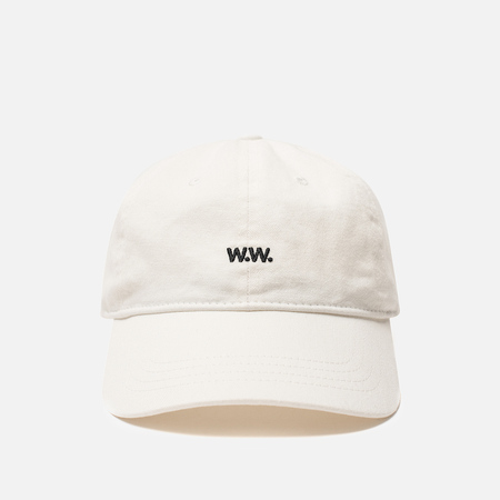 Мужская кепка Wood Wood Low Profile W.W. Embroidery Off-White