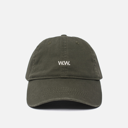 Мужская кепка Wood Wood W.W. Low Profile Dark Green