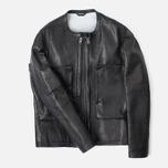 Мужская кожаная куртка Acronym x Nemen Double Zipper Rider Black фото- 0