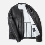 Мужская кожаная куртка Acronym x Nemen Double Zipper Rider Black фото- 1