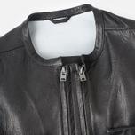 Мужская кожаная куртка Acronym x Nemen Double Zipper Rider Black фото- 2