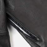 Мужская кожаная куртка Acronym x Nemen Double Zipper Rider Black фото- 4
