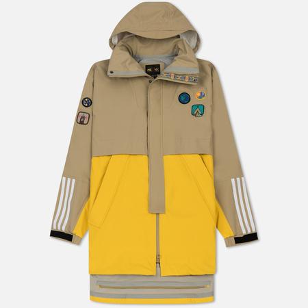 Мужская куртка adidas Originals x Pharrell Williams HU Hiking 3L Hemp/Yellow