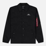 Мужская куртка Alpha Industries Coach TT Black фото- 0