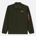 Мужская куртка Alpha Industries Coach TT Dark Green фото- 0