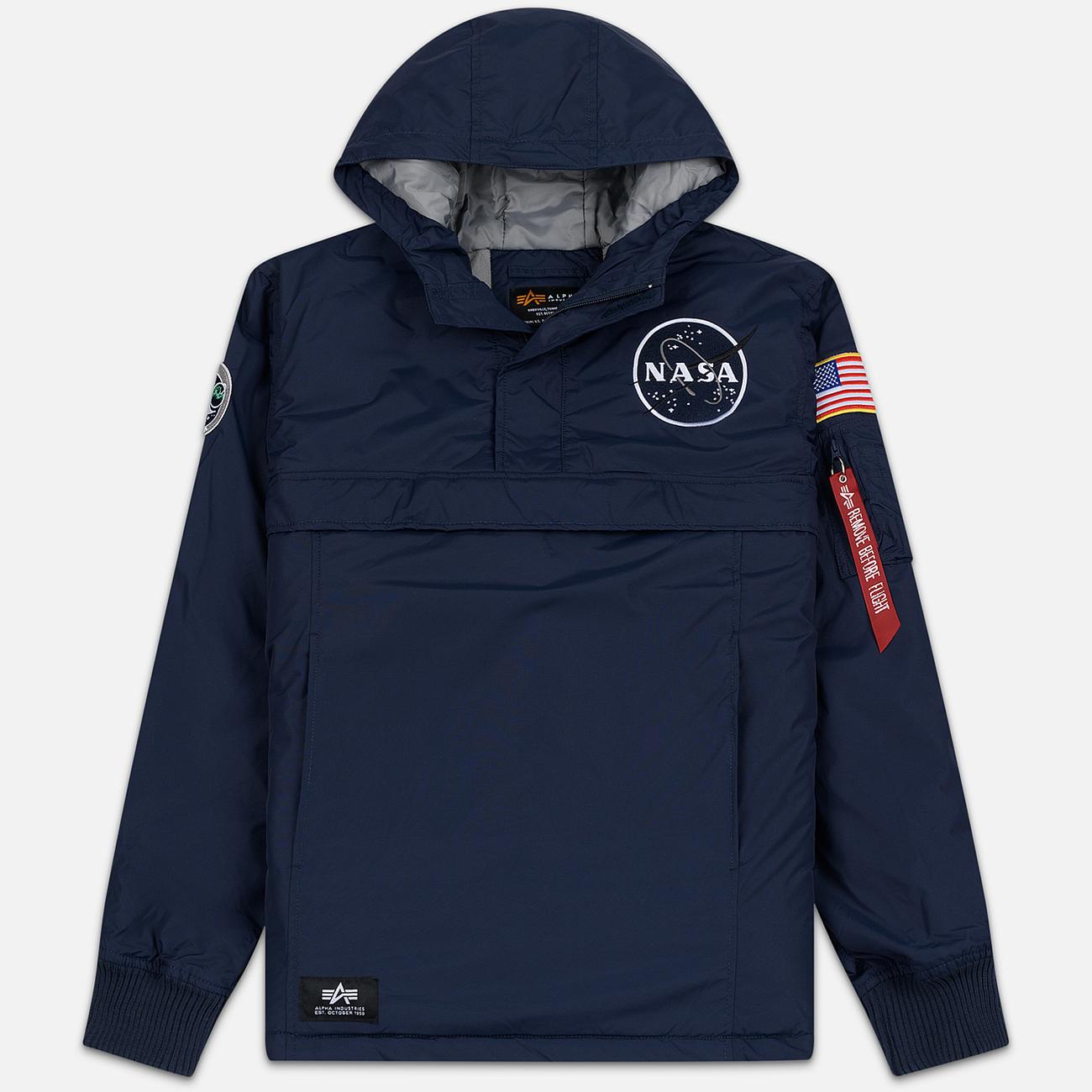 Мужская куртка анорак Alpha Industries NASA Replica Blue