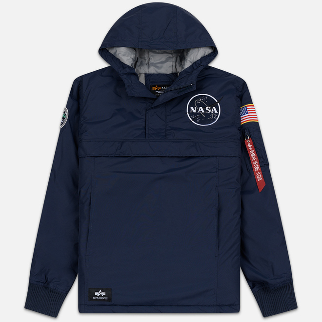 Мужская куртка анорак Alpha Industries NASA Replica Blue