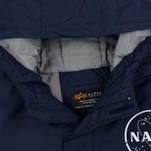 Мужская куртка анорак Alpha Industries NASA Replica Blue фото- 2