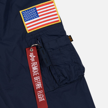 Мужская куртка анорак Alpha Industries NASA Replica Blue фото- 4