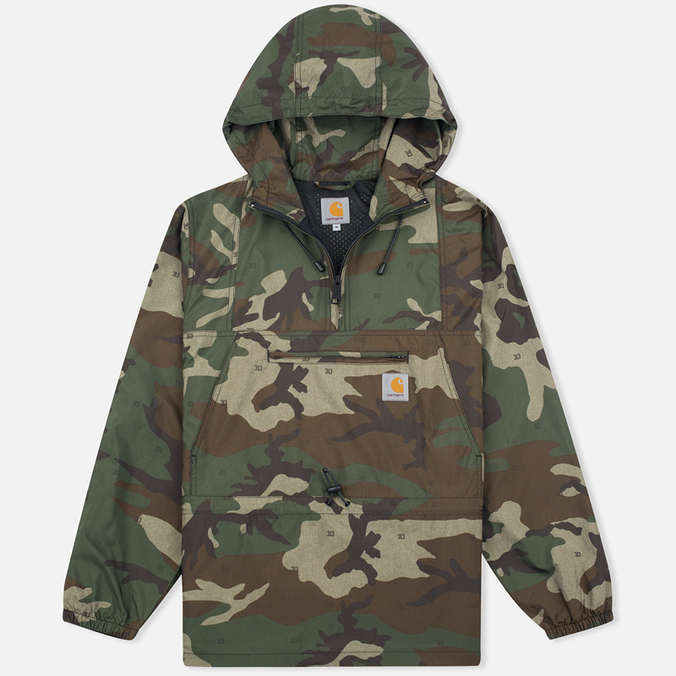 Мужская куртка анорак Carhartt WIP Spinner Black Camo/Green