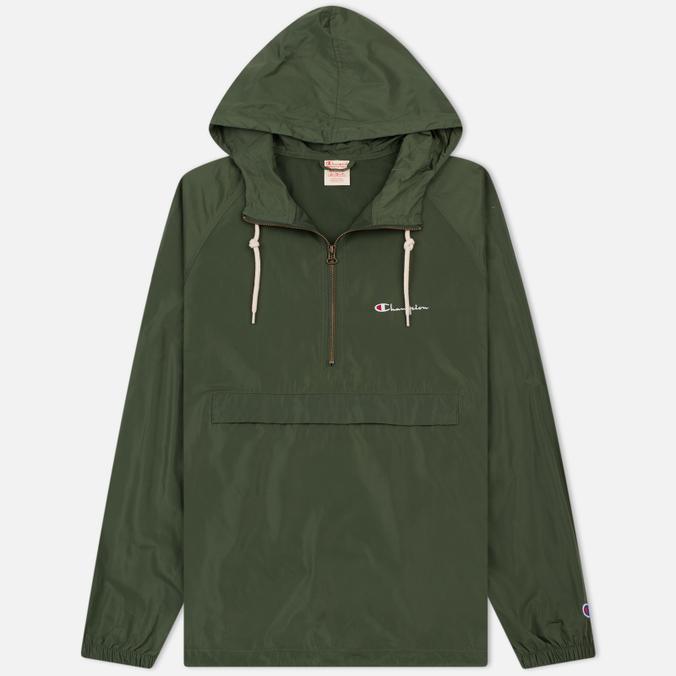 Мужская куртка анорак Champion Reverse Weave Hooded Military Green