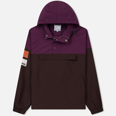 Мужская куртка анорак Champion Reverse Weave x Wood Wood Niko Hooded Purple/Brown