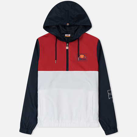 Мужская куртка анорак Ellesse Camozzi 1/2 Zip Optic White/True Red/Dress Blues