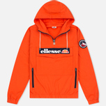 Мужская куртка анорак Ellesse Mont 1/4 Zip Red Orange фото- 0