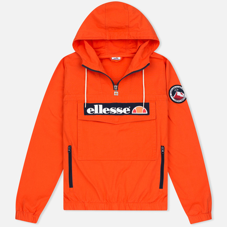 Ellesse Mont 1/4 Zip Men's Anorak Red Orange