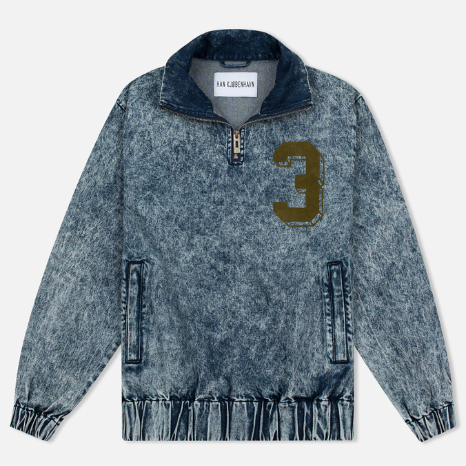 Мужская куртка анорак Han Kjobenhavn Half Zip Track Top Acid Wash
