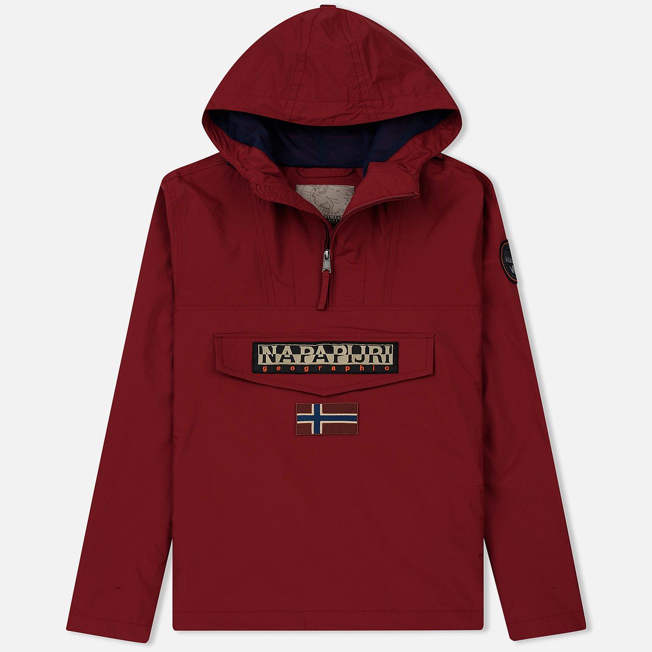 Мужская куртка анорак Napapijri Rainforest Summer 1 Rhubarb Red