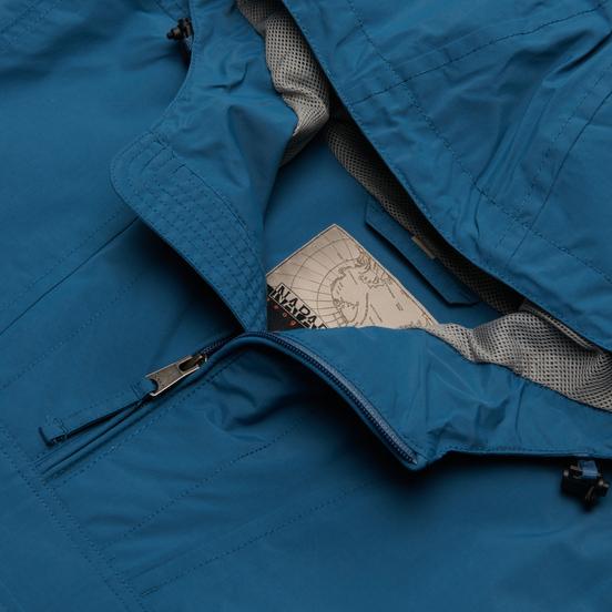 Мужская куртка анорак Napapijri Rainforest Summer Tribe Mallard Blue