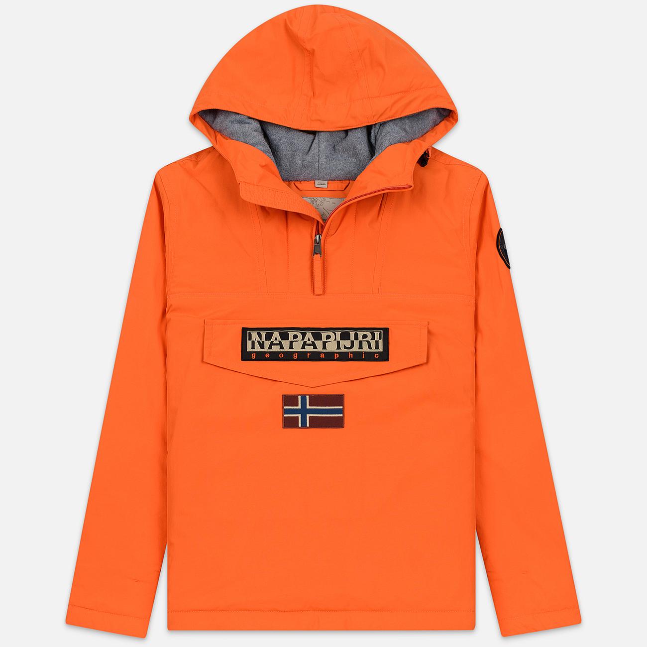 Мужская куртка анорак Napapijri Rainforest Winter Orange Puffin