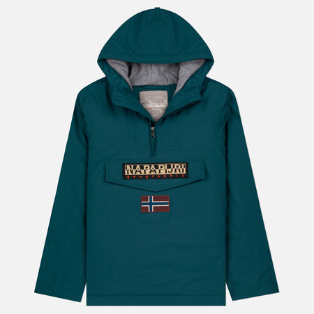 Napapijri Rainforest Winter Men's Anorak Jacket Petrol Green