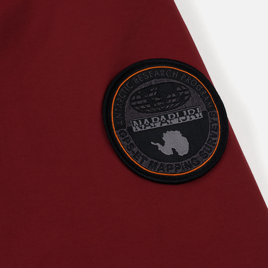 Мужская куртка анорак Napapijri Rainforest Winter Pockets Red Bourgogne