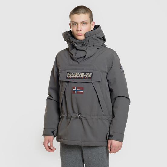 Мужская куртка анорак Napapijri Skidoo 2 Dark Grey Solid