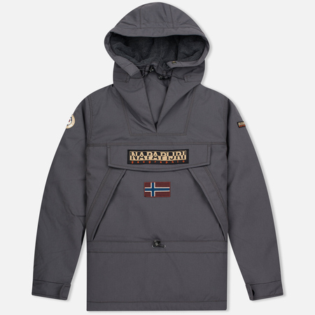 Мужская куртка анорак Napapijri Skidoo Dark Grey Solid