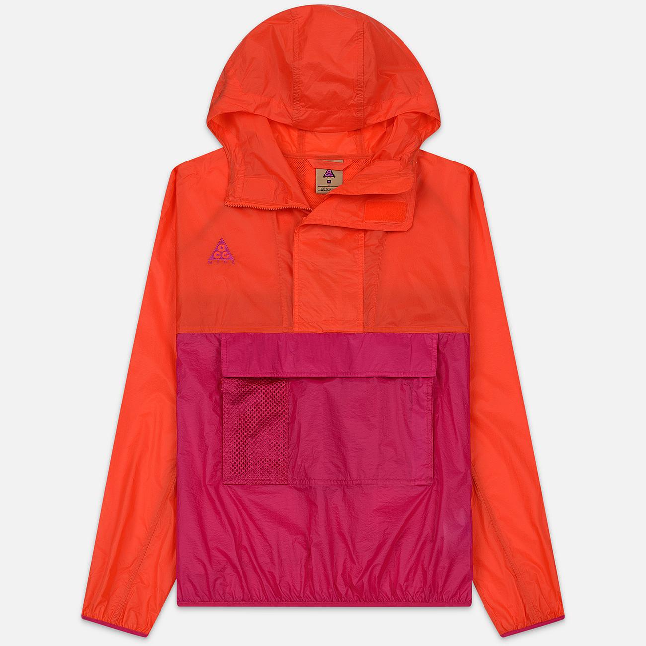 Мужская куртка анорак Nike ACG NRG Hoodie Habanero Red/Sport Fuchsia/Sport Fuchsia