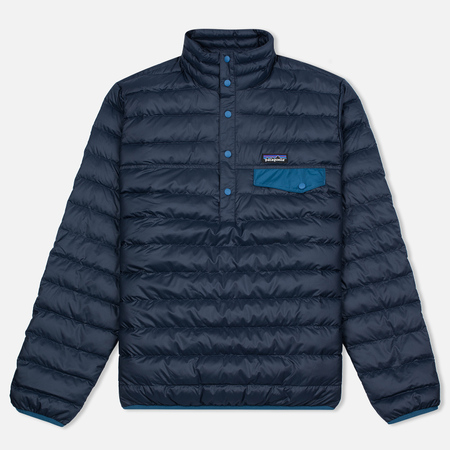 Patagonia Down Snap-T Men's Anorak Navy Blue
