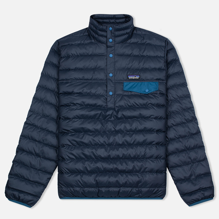 Мужская куртка анорак Patagonia Down Snap-T Navy Blue