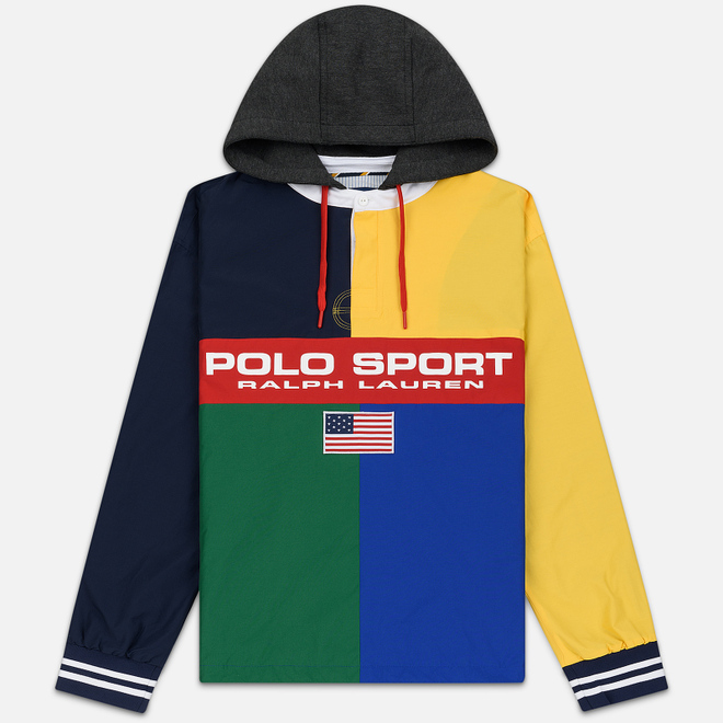 Мужская куртка анорак Polo Ralph Lauren Rugby Pullover Shell Multicolor