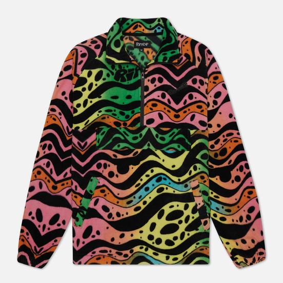 Мужская куртка анорак RIPNDIP Ripple Brushed Fleece Half Zip Multicolor
